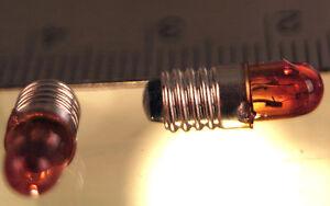 Walthers Life-Like 3 Pack AMBER Miniature Screw Base 16 Volt Light Bulb NEW