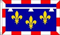 5' x 3' Centre Flag France Loire Region Regional French Province Banner
