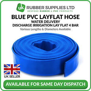 laest technology anerkannte Marken Outlet Store Verkauf Details about Blue PVC Layflat Hose Water Delivery Discharge Pipe Lay Flat  Irrigation NEXT DAY