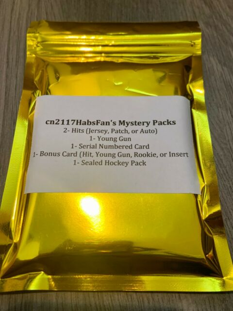 cn2117HabsFan's Mystery Packs #3 SEALED HOCKEY PACK 2 Hits 1 Young Gun 1 BONUS