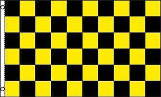 Yellow and Black Checkered Flag RV ATV NEW Large 3/'x5/' Sand Rail UTV