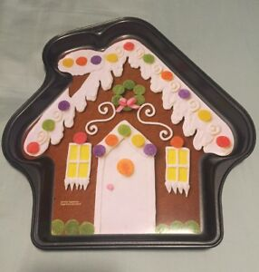 Groovy Details About Gingerbread House Wilton Large Cookie Cake Pan New Download Free Architecture Designs Rallybritishbridgeorg