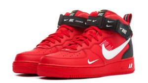 ae07012cf2 Nike Air Force 1 Mid Utility LV8 University Red Black AV3803-600 ...