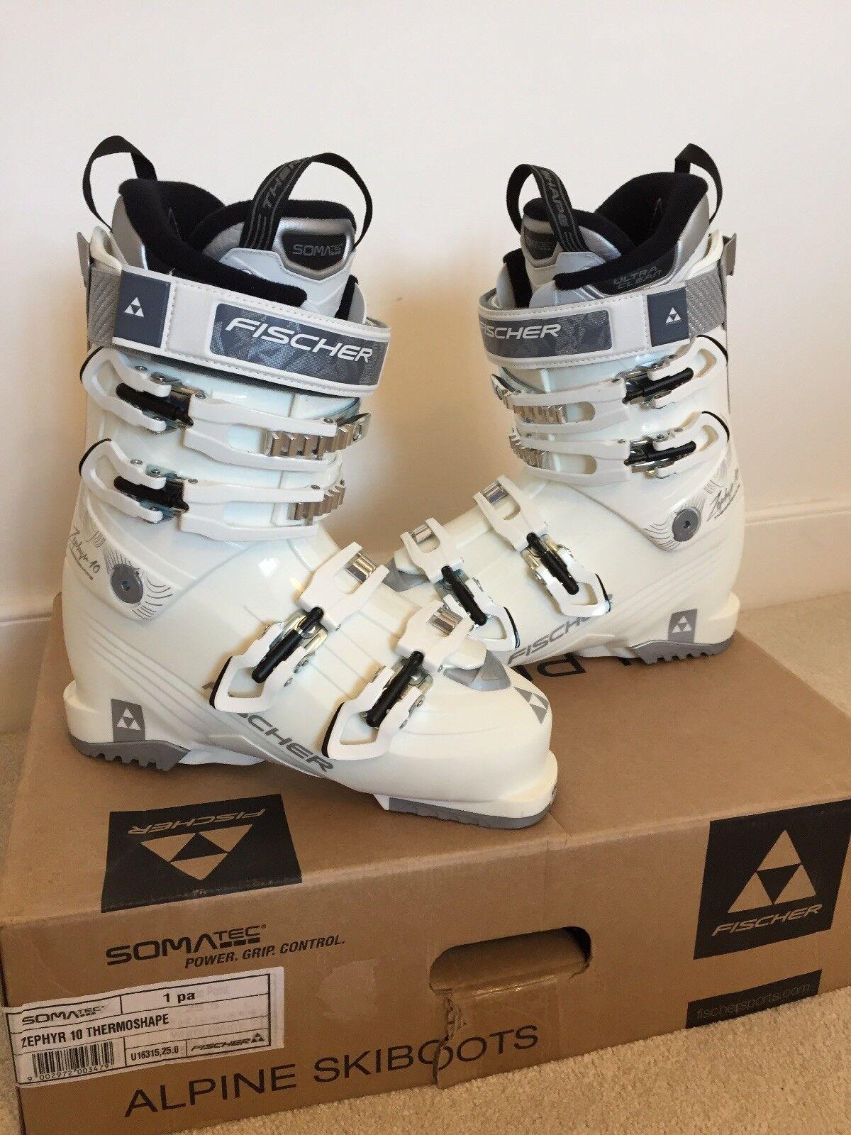 Fischer Zephyr 10 Thermoshape Mondo 25.5   UK6-6.5 Flex 100 Ladies Ski Boots NE