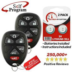 2 For 2007 2008 2009 2010 2011 2012 2013 2014 Chevrolet Tahoe Remote Key Fob