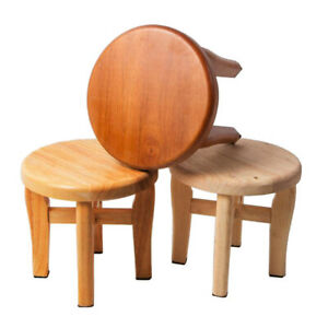 Miraculous Details About Step Stool Round Solid Oak Wood Handmade Footstool For Kitchen Bedroom Bathroom Andrewgaddart Wooden Chair Designs For Living Room Andrewgaddartcom