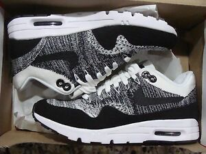 WMNS AIR MAX 1 ULTRA FLYKNIT 843387 100 WHITE/BLACK SIZE 5.5~8.5