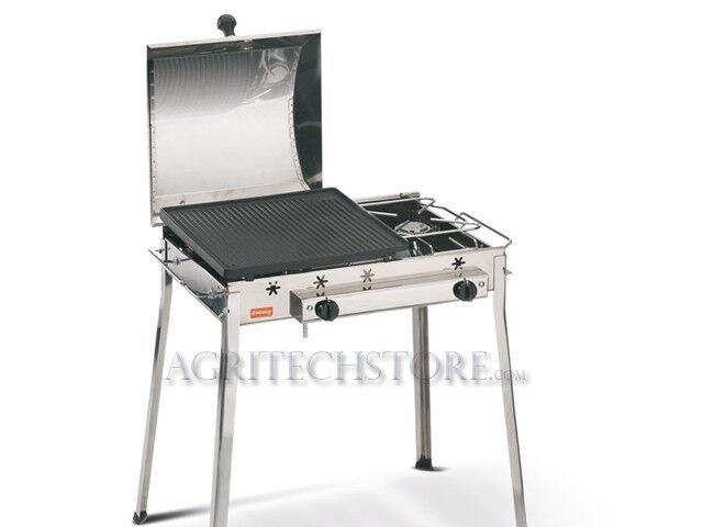 Barbecue Ferraboli, Ghisa Gas COMBINATO Inox Art.093