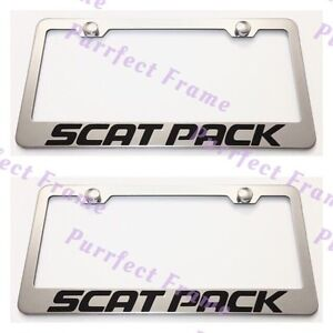 2X Buick Logo Stainless Steel License Plate Frame Rust Free W// Boltcap