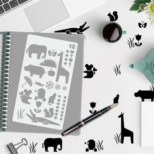 20X DIY Hand Account Template Bookkeeping book Diary Journal Stencil Set Drawing