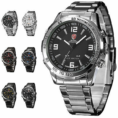 SHARK NEW LED DIGITAL ANALOG SPORT ARMY MEN WRIST WATCH + GIFT BOX