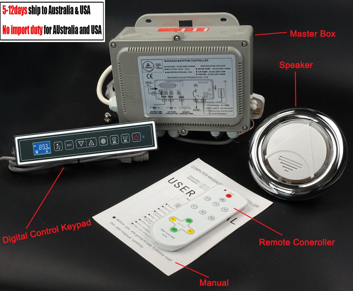 GD-7001B massage bathtub control system whirlpool controller lkeypad 220V 110V