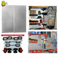 Metal Pegboard Workbench Tool Organizer Galvanized Wall Control Magnetic Panel