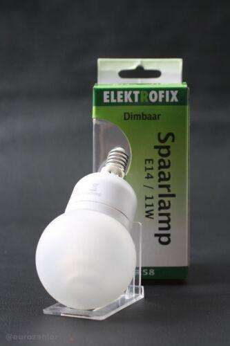 Elektrofix BR58 E14 11W//50W dimmbar 540 Lumen Energiesparlampe Energiesparleu...