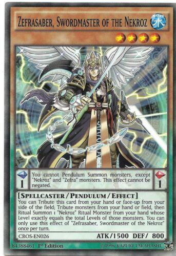 Swordmaster of the Nekroz CROS-EN026 Yu-Gi-Oh Card 1st Edition New Zefrasaber