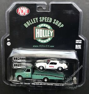 GREENLIGHT-Holley-1967-Chevrolet-Ramp-Truck-amp-1971-Chevrolet-Camaro-Z-28-1-64