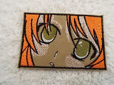 "Olive Green ANIME EYES 4"" Embroidery Iron-on Applique Patch (E6)"