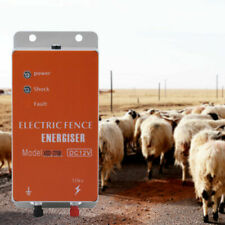 12v Electric Power Fence Energizer Charger For Animals Poultry Farm Controller
