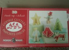 Nordic Ware 3-D Christmas Cookie Cutters Boxed Stand Up Tree Angel Deer More