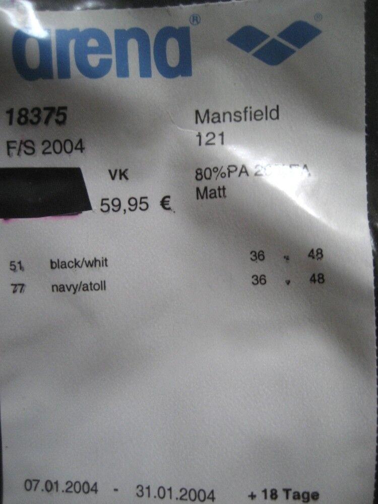 Arena Damen Badeanzug Mansfield Gr Gr Gr 38 Schwarz Weiß chlorBesteändig 18375 | Marke  | Online-verkauf  | Diversified In Packaging  | Lebensecht  | Fairer Preis  a53255