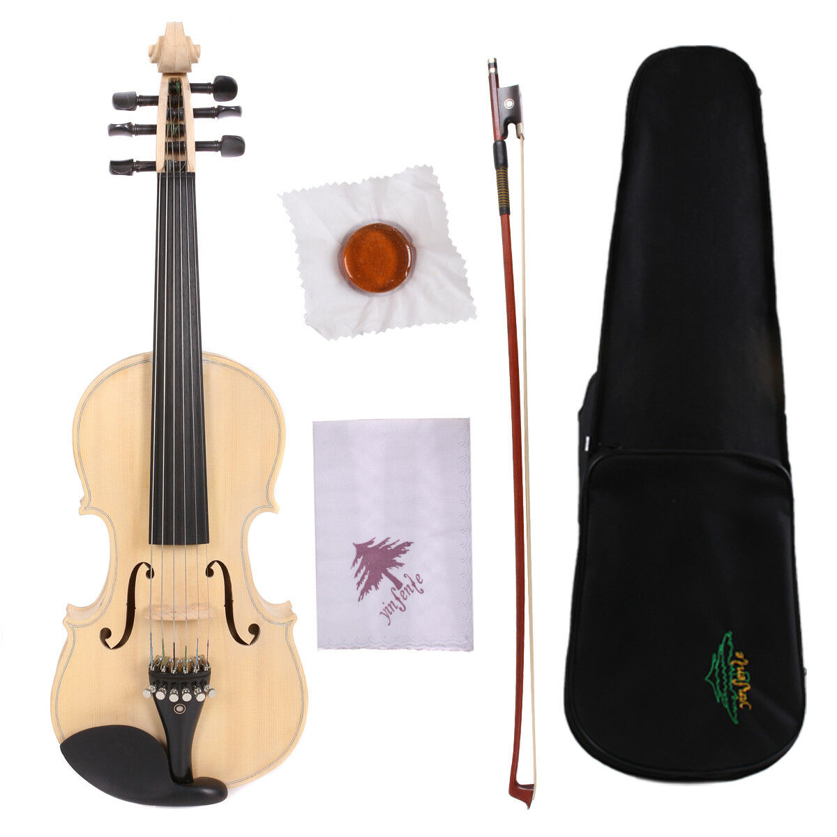 4 4 Violin 6 strings handmade Natural color Fiddle free Case Bow Rosin No paint