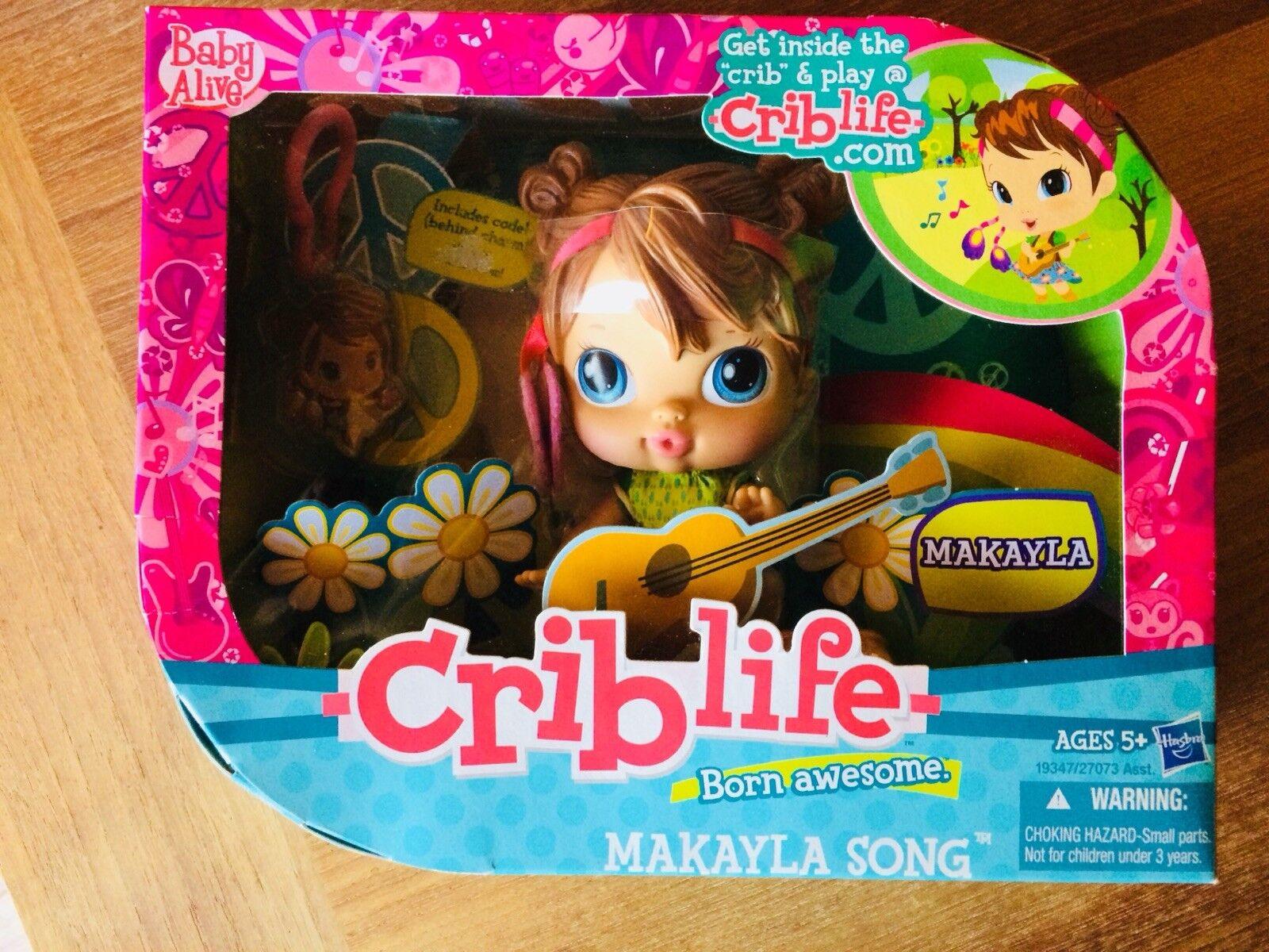 Hasbro 2010 Baby Alive Crib Life Makayla Song Doll Brand New Boxed Rare RetiROT