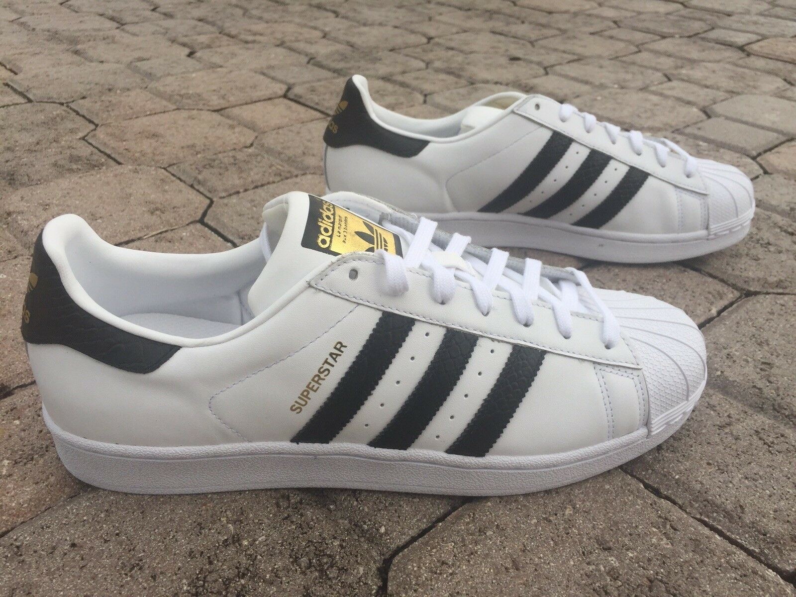 Adidas Superstar East River Rival Pack 40 Nero-White  Size 11