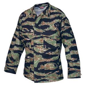 Vietnam-Tiger-Stripe-Camo-BDU-Uniform-Men-039-s-Mil-Spec-Jacket-by-TRU-SPEC-1590