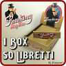 Cartine SMOKING GOLD SLIM LUNGHE 1 Box 50 Libretti 1650 Fogli KING SIZE ORO