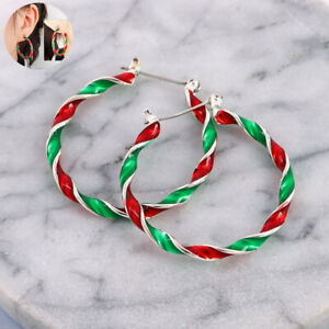 Fashion-Studs-Enamel-Gift-Christmas-Women-Drop-Dangle-Xmas-Hook-Ear-Earrings