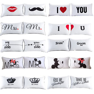 2PCS-White-Cotton-Home-Decor-Standard-Pillow-Cases-Bed-Room-Throw-Cushion-Cover