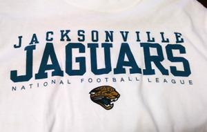 b47e7c51 Image is loading NFL-Jacksonville-Jaguars-White-Graphic-T-Shirt-Tee-