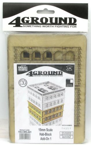Kit Add-On 1 15mm Cold War Gone Hot! 4Ground 15S-CWG-A01 Hab-Block Tenement