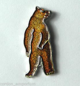 Brown Bear Lapel Pin Badge
