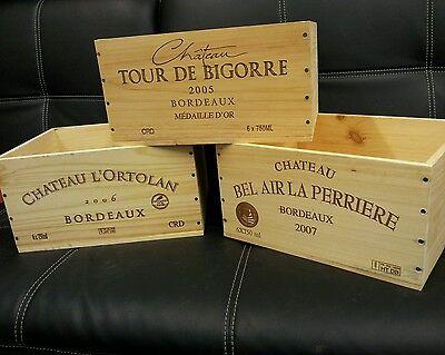 6 X Reale Francese In Legno Vino Gabbie Caselle Fioriera Ostacolare Cassetti / Storage =-mostra Il Titolo Originale