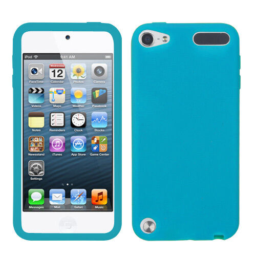 APPLE iPod Touch 5 SOFT SILICONE SKIN RUBBER GEL COVER CASE ACCESSORY TEAL
