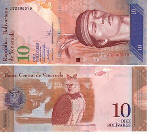 Venezuela-10-Bolivares-2007-Mint-Unc-P90a