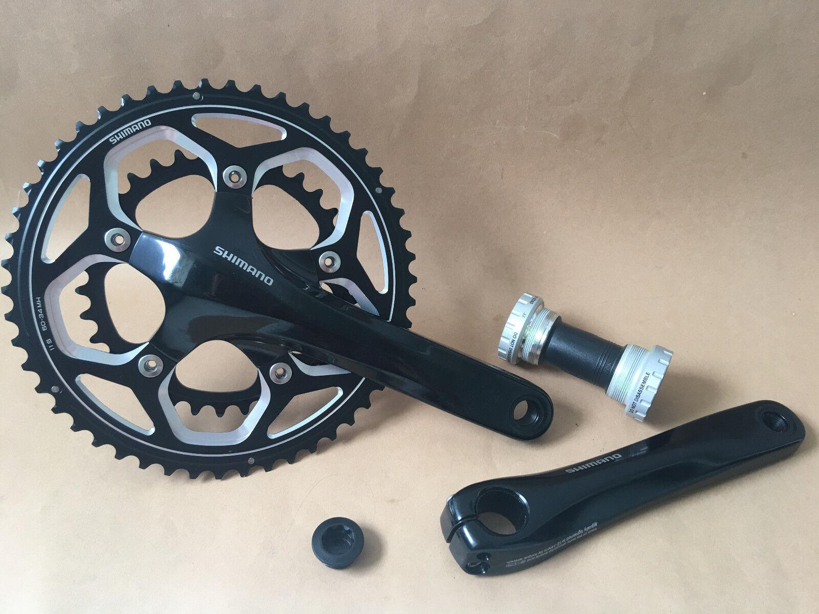 Shimano Kurbelgarnitur FC-RS500 2x11 Fach 50 34 Z 172,5  Mit Lager black Neu
