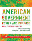 American Government: Power and Purpose by Kenneth A. Shepsle, Stephen Ansolabehere, Theodore J. Lowi, Benjamin Ginsberg (Paperback, 2013)