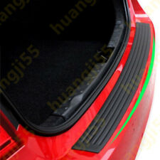 Black Rear Bumper Rubber Cover Strip Scratches Protect Adhesive Universal 908cm