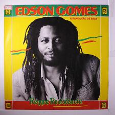EDSON GOMES & BANDA CAO DE RACA: Reggae Resistencia LP (Brazil, 1988, insert, s