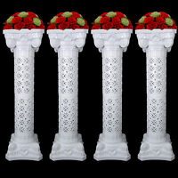 Wedding Decorative Plastic Roman Column Height Adjustable Holds Flower Plate
