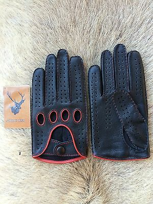 Men's Driving Leather Gloves Deerskin Business Class Car Glove