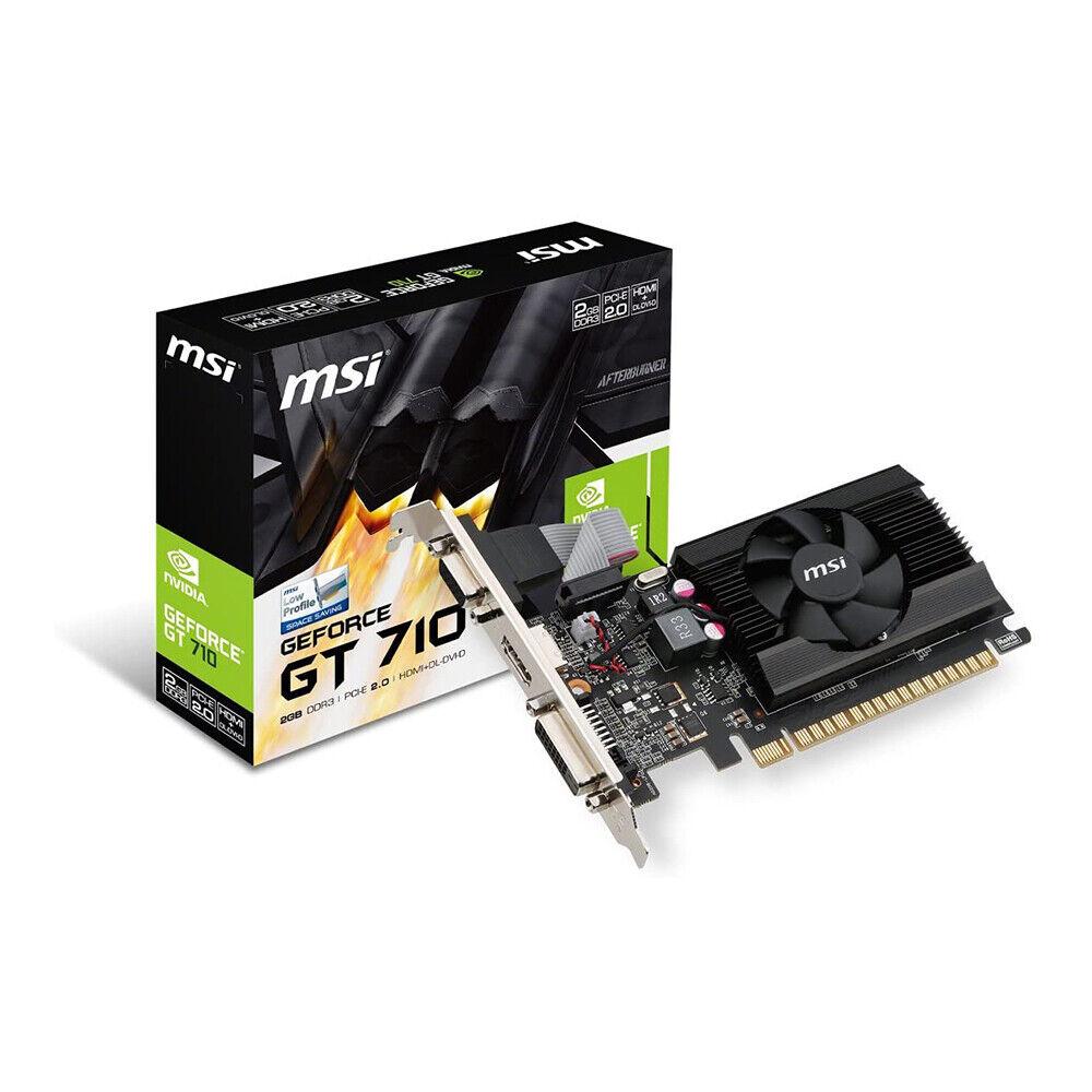 MSI GT 710 2GD3 LP Gaming GeForce GT 710 2GB GDRR3 64-bit Graphics Card
