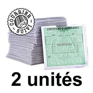 Porte-vignette-x2-autocollante-pochette-etiquette-assurance-controle-technique