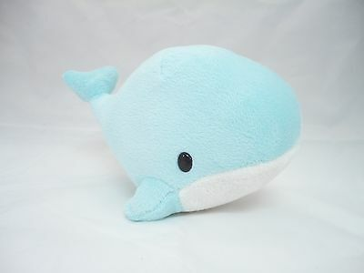 Light Blue Turquoise Blue Whale Soft Plush Stuffed Animals With Suction Cup New