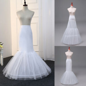 10498b3fe1a4 Image is loading Mermaid-Wedding-Prom-Petticoat-Bridal-Crinoline-Underskirt- Hoop-