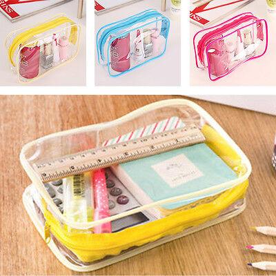 PVC Waterproof Cosmetic Storage Bags Packing Cube Travel Luggage Organizer