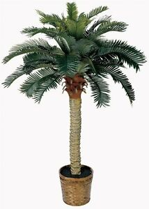 Fake-Palm-Tree-4-Feet-Tall-Artificial-Potted-Plant-Tropical-Decor-Nearly-Natural