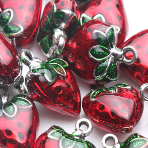 Strawberry Pendant Necklace Bracele Jewelry DIY Making Beads Lovely Sweet Crafts